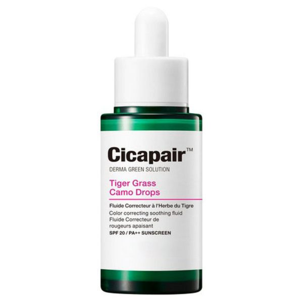 СС-Сыворотка восстанавливающая корректирующая цвет лица / Cicapair Tiger Grass Camo Drops SPF 20/PA+++ 30мл